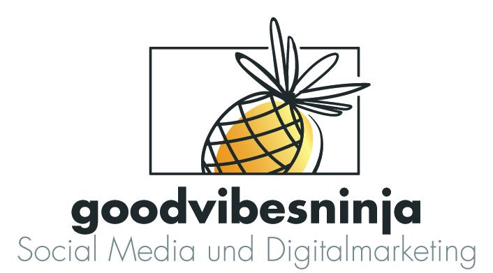 Logo für goodvibesninja, Unterstützung und Optimierung digitales Marketing